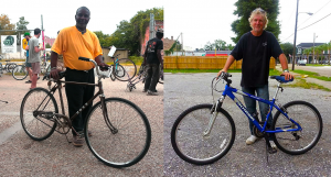 Time is Money Program participants and their new bicycles.